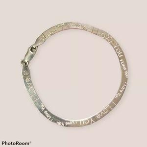 925 I love you real silver bracelet